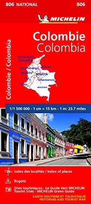 Carte Michelin Colombie