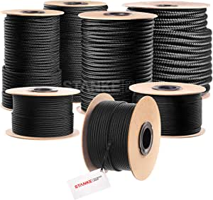 6mm Weiß Polypropylen Geflochten Polyester Seil Schnur Meter Stark Schnur
