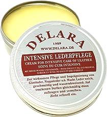DELARA Intensive Lederpflege, farblos, 75 ml - Imprägniert und schützt Leder sehr wirksam Rezeptur mit hochwertigem Kokosöl und Bienenwachs - Made in Germany