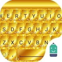 Golden Glitter Theme&Emoji Keyboard
