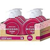 Moussel - Jabón de manos con tapa, 300 ml - [Pack de 6]