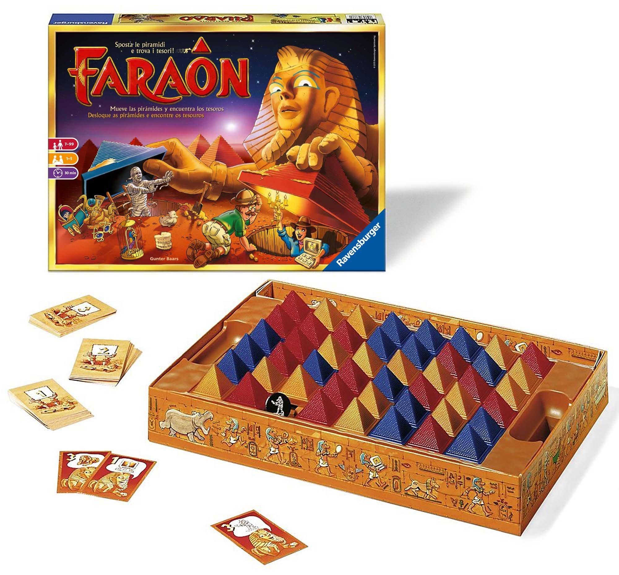 Ravensburger 26718 Faraon, Gioco da Tavolo, per 1-5 Giocatori, età Consigliata 7+ 2 spesavip