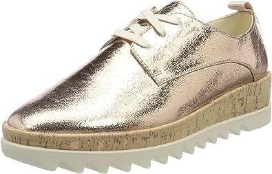 Tommy Jeans Metallic Platform Lace Up Shoe, Scarpe da Ginnastica Basse Donna