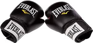 Everlast Ergo Foam - Guanti da Boxe in Pelle per Allenamento, Colore: Nero