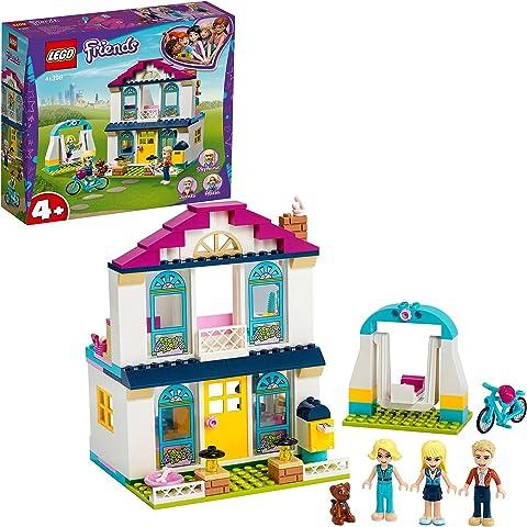LEGO 41398 Friends 4+ Stephanie's House Dollhouse Play Set with Family Figures, Toys for Preschool Kids