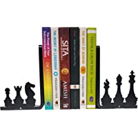 HeavenlyKraft Chess Theme Bookend Decorative Metal Bookend Non Skid Book End Book Stopper for Home/Office Decor/Shelves…