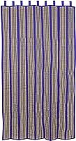 Tribes India Tribal Handwoven Grass Door Curtain - 7 Feet, Blue