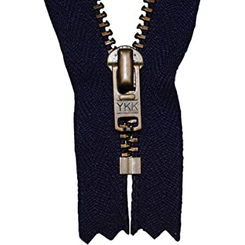 Reißverschluss marineblau 16cm für Hosen 4mm Metallzähne silberfarben