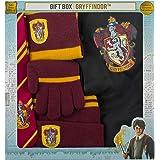 Cinereplicas- Brandecision-Caja Regalo Harry Potter Kids Gryffindor(Capa,Corbata,Gorro,Guantes y Bufanda), Multicolor, niño (