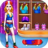 Skateboard Pattinando e Danza Stella Ragazza - Prendi le tue capacità di ballo e pattinaggio con questo gioco libero di musica e sport