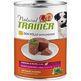 Trainer Natural Cibo Umido Medium-Maxi Puppy & Junior per Cani con Pollo - Pack 12 x 400gr - 3,6kg