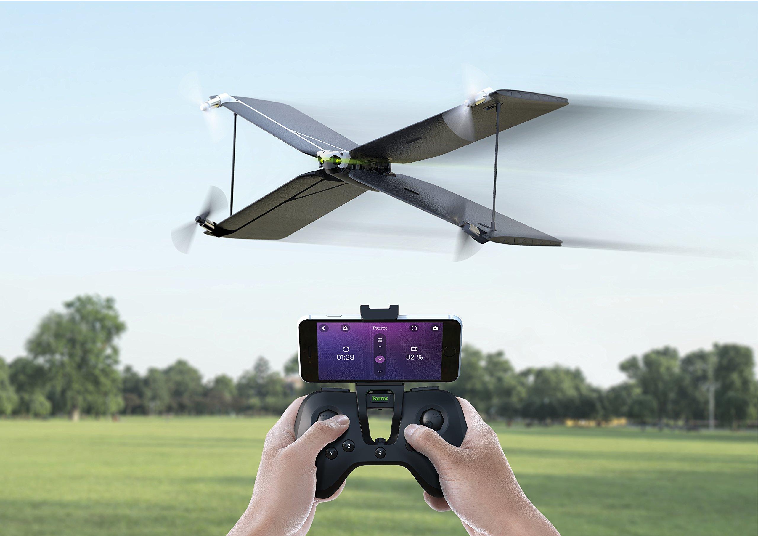 Parrot-Pack-MiniDrone-QuadricoptreAvion-Swing-Tlcommande-Flypad-NoirBlanc
