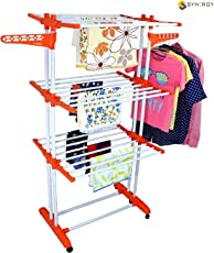 Synergy - Heavy Duty Double Pole Foldable Cloth Dryer/Clothes Drying Stand with Lifetime Warranty - SY-CS9.2