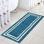 Uphome Bath Rug Banded Bath Mat Non-Slip Door Carpet Soft Luxury Microfiber Machine-Washable Floor Kitchen Rug for...