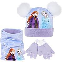 Disney Frozen 2 Set Invernale Sciarpa Cappello e Guanti con Anna ed Elsa, Cappello Bambina Invernale, Cappellino Bimba…
