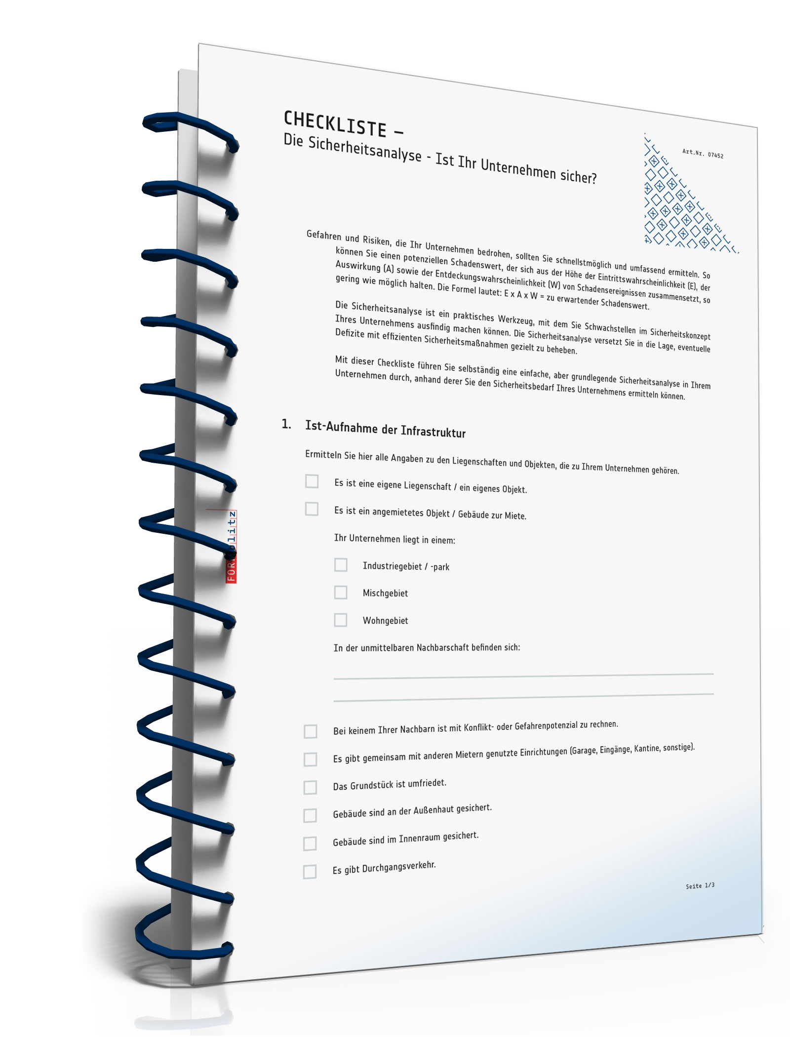 Checkliste Sicherheitsanalyse Unternehmen [PDF Download] (Unternehmen Legal Software)