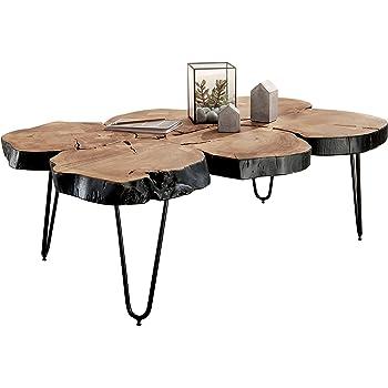 Finebuy Massiver Couchtisch Harlem 115 X 70 X 40 Cm Massiv Holz