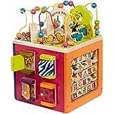 B. toys stor motoriktärning, motorikleksak aktivitetscenter med motorikbåge med djurparksdjur, träleksak för bebisar från 1 å