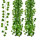 Kunstmatige Klimop Leaf klimop slinger kunstmatig, 12 Pack Fake Ivy Garland, nep planten voor thuis, kantoor, tuin, Kerstmis,