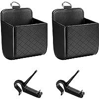 Does Not Apply Lot de 2 sacs de rangement pour intérieur de voiture - En cuir synthétique - Pour ventilation de…
