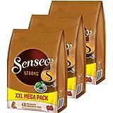 Para cápsulas Senseo Strong/de apoyo, 3 Pack, potente sabor, café, 144 almohadillas