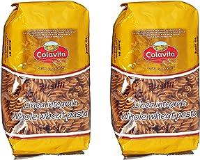 Colavita Fusilli Durum Whole Wheat Pasta, Pack of 2 (2 x 500 GMS)
