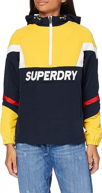 superdry damen jacke blau glitzer