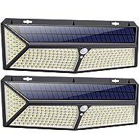 Solarlampen für Außen mit Bewegungsmelder,【288LED mit USB Wiederaufladbar 】Solarleuchten für Außen 2500 Lumen Solar…
