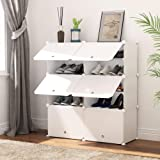 PREMAG Organisateur de Rangement pour Chaussures Portable, Blanc, étagère modulaire pour Gagner de la Place, étagères à Chaus