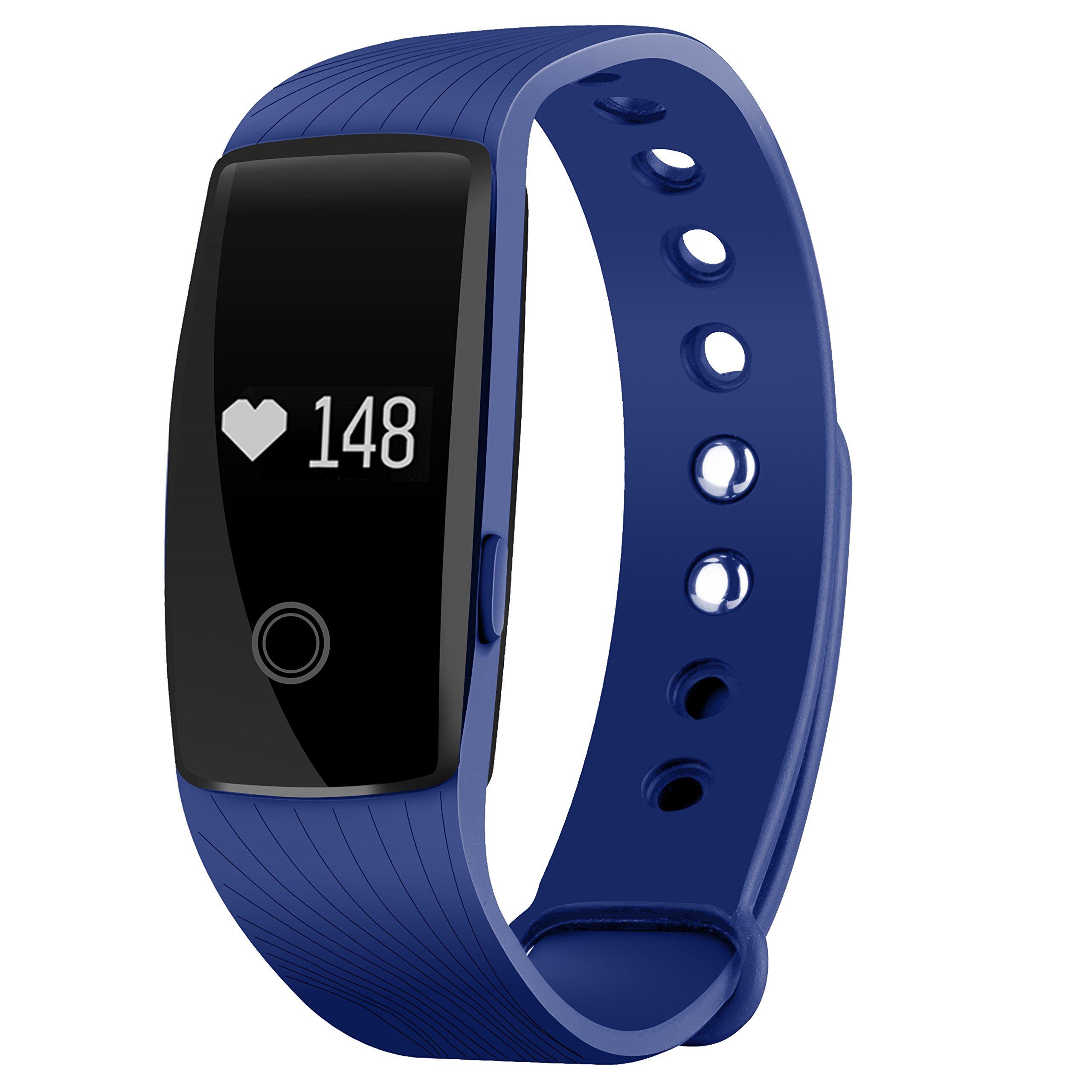 Seneo Fitness Tracker, Reloj Inteligente con Pulsómetro, IP67 Pulsera de Fitness Rastreador de Actividad Monitor de… 1