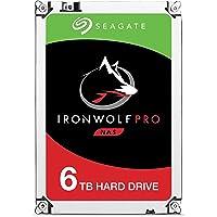 Seagate ST6000NEZ023 IronWolf Pro Interne Festplatte für 1 - 24 Bay NAS-Systeme, 3,5 Zoll, 6 TB, silberfarben