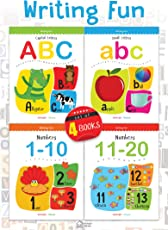 Writing Fun a Set Of 4 Books: Write And Practice Capital Letters, Small Letters and Numbers 1 to 20