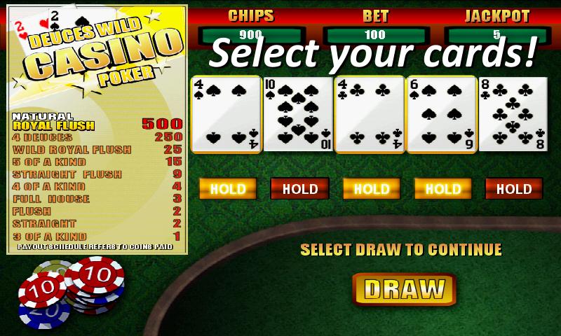 deuces wild casino poker free games