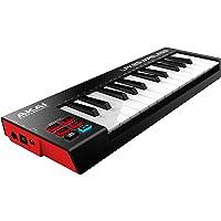 Akai Pro  Kabellose USB-MIDI Controller mit 25 anschlagdynamischen Minitasten und Bluetooth Minikeyboard für Produktionen und Auftritte und passend für iOS, Mac und PC Anwendungen