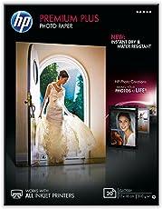 HP CR676A Premium Plus Glossy Photopaper 300g/m2 130 x 180 mm 20 Blatt 1er-Pack, weiß