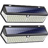 418 LED Lampe Solaire Extérieur【3500LM 4400mAh Puissante éclairage avec Charge USB】Détecteur de Mouvement éclairage Solaire S