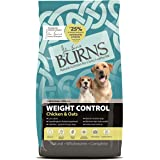 Burns Pet Nutrition Hypoallergenic Complete Dry Dog Food Adult and Senior Dog Weight Control Chicken and Oats 2 kg