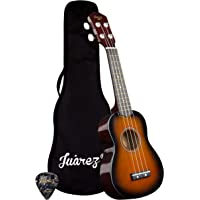 "Juarez Junior 21"" Soprano Ukulele, Linden Wood Top & Body, Nylon Strings, Chrome Open Machine, Rosewood Fretboard with…"