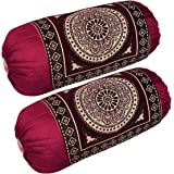 HSR Collection Bolsters Cover, Standard, Maroon, Set Of 2