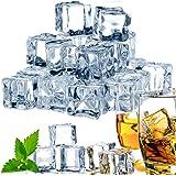 GZCLEU 70 stuks kunstmatige acryl ijsblokjes, kunststof, transparant, permanente ijsblokjes, herbruikbaar, voor fotografie-re