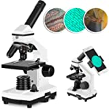 Solomark Microscope,40x - 640x Professional Monocular Biological Compound Microscope Set, with Phone Adapter