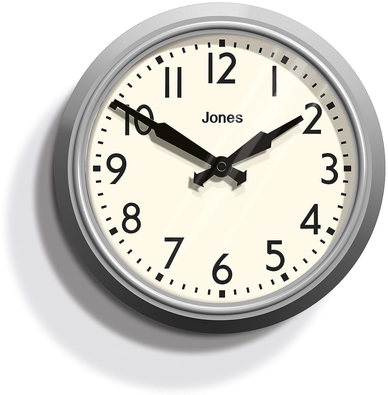 jones apollo wall clock overcoat grey jones
