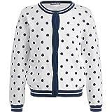 GULLIVER Cárdigan Chaqueta de punto para niña, manga larga, color blanco, con botones, 2-7 años, 98-128 cm