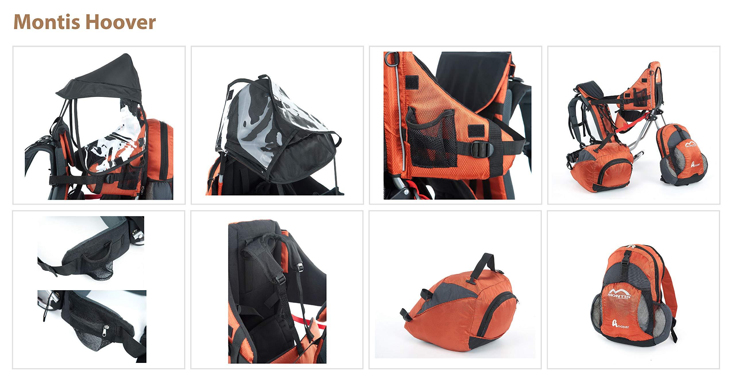 81S6LQUQN6L - Montis Hoover - Mochila portabebés (carga máxima de 25 kg)