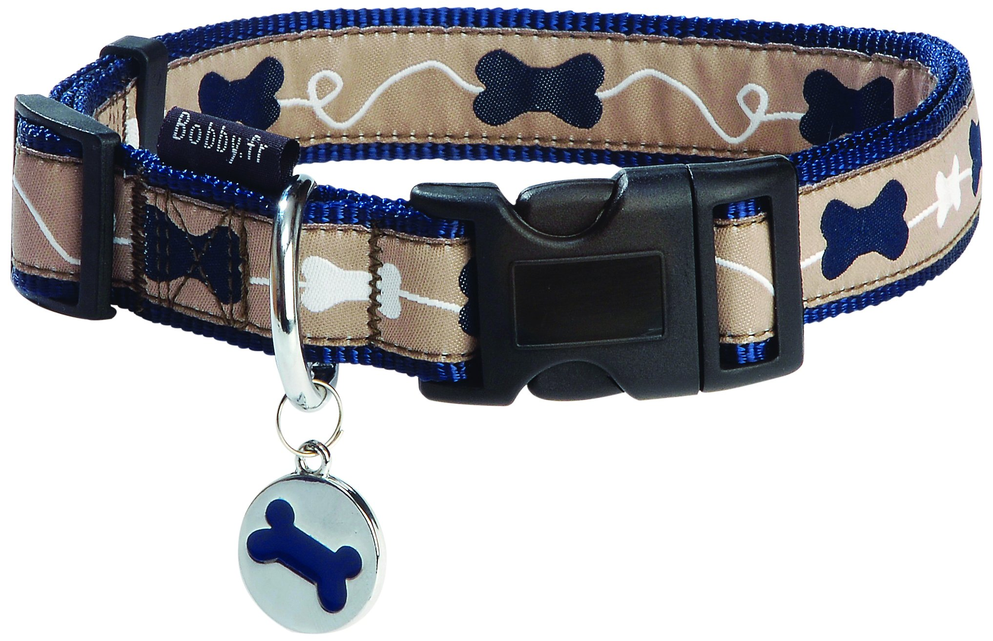 Bobby Kyrielle Dog Collar, Small, Blue