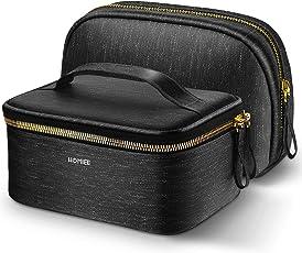 HOMIEE Portable Travel Kosmetiktasche, tragbare Reise Make up Taschen Bürsten Beutel Kulturwaschbeuteln Spielraum Speicher