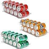 Puricon Låda transparent [set om 3] Kylskåpslådor Behållare för mat och dryck, Förvaringslåda för köket och kylskåpet