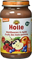 Holle Waldbeeren in Apfel, 6er Pack (6 x 220 g) - Bio