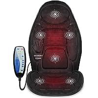 Snailax Coussin de Siège de Massage en Mousse à Mémoire de forme - Masseur pour le dos avec chaleur, siège massant…