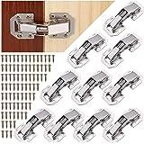 JIZZU 10 stks Kabinet scharnieren met scharnierschroeven,Soft Close scharnieren voor keuken kast deuren, 90 graden scharnier